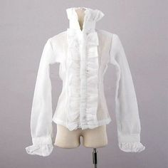 [wamami] 80# White Lace Blouse/Clothes/Shirt/Outfit 1/4 MSD AOD DOD BJD Dollfie