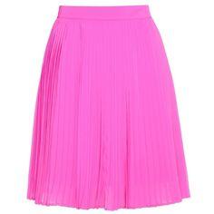 Kenzo Pleated Skirt ($245) ❤ liked on Polyvore featuring skirts, gonne, pink, kenzo, pink pleated skirt, pink skirt, knee length pleated skirt and fuschia skirt