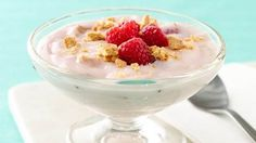 raspberry cheesecake yogurt cup