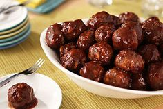 Don't be surprised if your crew rushes the buffet table when you set out these Easy Party Meatballs.