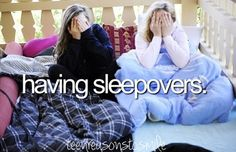 Have sleepovers! Wish I could with my BFF Best Freinds, Real Friends, Best Friends Forever, Best Friend Bucket List, Best Friend Goals, Justgirlythings, Thing 1, Good Buddy, Summer Bucket Lists