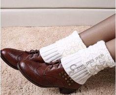 Free Shipping!5pairs/lot Fashion leg warmers womens boot scallop style leg warmer gaiters wool knitted boot socks