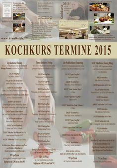 Übersicht Kochkurs Termine 2015  - im  Schürers SinnReich.Tv ( Kochschule & Eventlocation ) in Backnang bei Stuttgart direkt neben dem Tafelhaus
