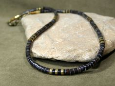 Mens Necklace Beaded Necklace Mans Jewelry by StoneWearDesigns
