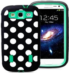 Amazon.com: myLife (TM) Black and Shamrock Green - Polka Dot Armor Series (Durable Built in Screen Protector + Urban Body Armor Glove) Case ...