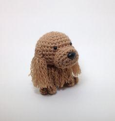 Buff de Amigurumi Perro Cocker Spaniel peluche animales ganchillo hecho a mano muñeca de peluche perrito cachorro / hecho por encargo