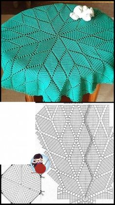 Crochet Doily Patterns, Crochet Doilies, Knitting Patterns Free, Crochet Stitches, Free Pattern, Crochet Square Blanket, Crochet Bedspread, Filet Crochet, Crochet Projects