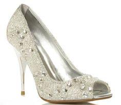 Wedding shoe inspiration, Dune Crystal Peep Toe, via Aphrodite's Wedding Blog