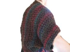 Beautiful Shrug in Browns Blues & Reds by UniquelyYourDesigns, £30.00 @Crafty Folk