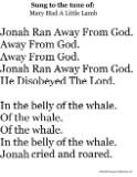 Jonah and the whale songs for bible lesson