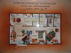 Two Bedroom Two Bath  www.springbrookmeadowsapts.com  www.facebook.com/springbrookmeadowsapts