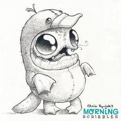 Platypus suit! #morningscribbles
