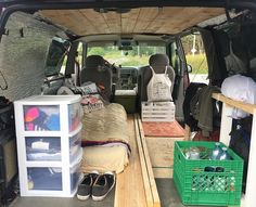 Van Travel, Bus Life, Van Interior, Tiny Living, Tiny Houses, Home Goods, Vans, Building, Instagram