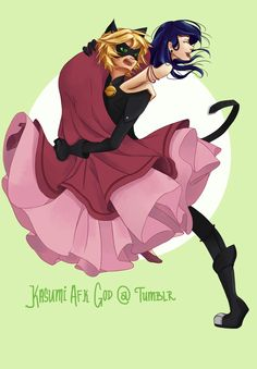 (Miraculous: Tales of Ladybug and Cat Noir) Marinette/Cat Noir Miraclous Ladybug, Ladybug Comics, Lady Bug, Tikki Y Plagg, Ladybug Und Cat Noir, Marinette Ladybug, Catty Noir, Miraculous Ladybug Fan Art, Marinette And Adrien