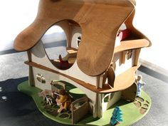 Wooden Waldorf Dollhouse by Twig Studio Kids