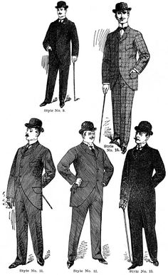 menswear from 1890s
