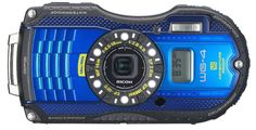 Ricoh GPS blue Camera with Optical Image Stabilized Zoom with LCD (Blue) Photography Camera, Underwater Photography, Nikon, Sony, Latest Camera, Optical Image, Waterproof Camera, Camera Reviews, Photography Equipment