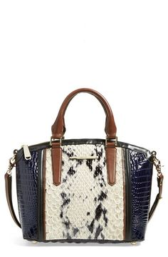 Brahmin 'Duxbury' Embossed Leather Satchel available at #Nordstrom