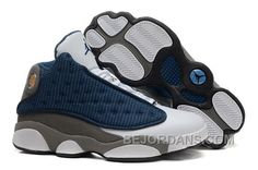 The draw to this model is the sleek university blue upper combined with  white hits on the toe and midsole. The flint color that lends the Jordan 13  Flint ...