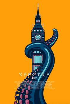 Spectre (2015) ~ Minimal Movie Poster by Viraj Nemlekar #amusementphile