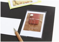 Instax Mini Pocket Sticker - includes 5 see-through Instax pockets that stick to any journal/planner/card