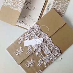 24 Ideas For Vintage Wedding Invitations Diy Lace Vintage Wedding Invitations, Diy Invitations, Wedding Stationary, Wedding Invitation Cards, Invitation Wording, Handmade Invitation Cards, Vintage Wedding Cards, Invites, Wedding Cards Handmade