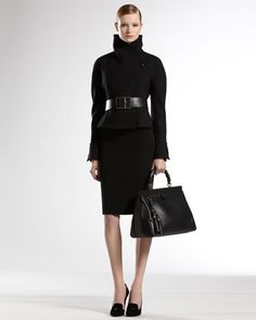 Shaped Jacket & Pencil Skirt by Gucci at Neiman Marcus. $2700
