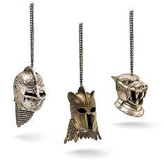 Game of Thrones Helmet Ornaments 3 Pack   ThinkGeek