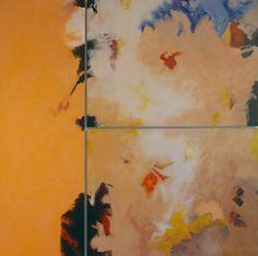 Ohne Titel 2004, Acryl auf MDF, 121 x 121 cm (3-teilig)