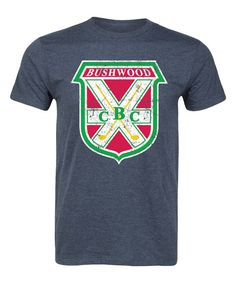 Heather Blue 'Bushwood CBC' Crest Tee - Men's Regular