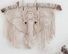 Angel Wings Pattern/Tutorial   Etsy Macrame Wall Hanging Patterns, Large Macrame Wall Hanging, Macrame Patterns, Diy Photo, Crochet Elephant Pattern, Crochet Pattern, Boho Dekor, Macrame Owl, Owl Patterns
