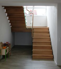 Faltwerktreppe Adelberg designed by TBS Basement Stairs Adelberg Designed Faltwerktreppe TBS Open Basement Stairs, Flooring For Stairs, Basement Ideas, Rustic Staircase, Open Staircase, Staircase Ideas, Railing Ideas, Home Stairs Design, Interior Stairs