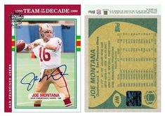 Joe Montana 2004 Topps Fan Favorites JM Autograph (90 Made)