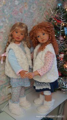 Как поживают сестрички от Angela Sutter ? / Коллекционные куклы Angela Sutter / Бэйбики. Куклы фото. Одежда для кукол