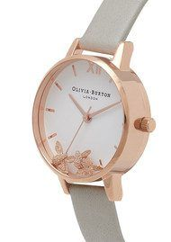 Olivia Burton Busy Bee's Watch - Grey & Rose Gold