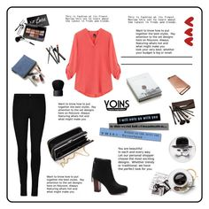 """""""Yoins - V Neck Blouse"""" by asija25 ❤ liked on Polyvore featuring Bobbi Brown Cosmetics, Crate and Barrel, Rory Dobner, Borghese, NARS Cosmetics, women's clothing, women, female, woman and misses"""