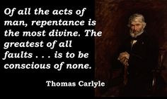 Thomas Carlyle repentance