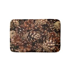 Lots of Pine Cones Bathroom Mat - rustic gifts ideas customize personalize