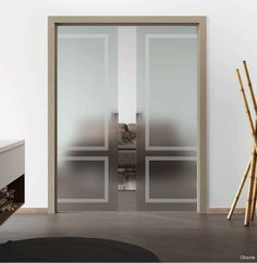 Telaio in legno Anta singola scorrevole a scomparsa Mod.Charm_Collezione RETRO' Wood Frame Single sliding door inside wall Mod.Charm_RETRO'Collection di #MRartdesign