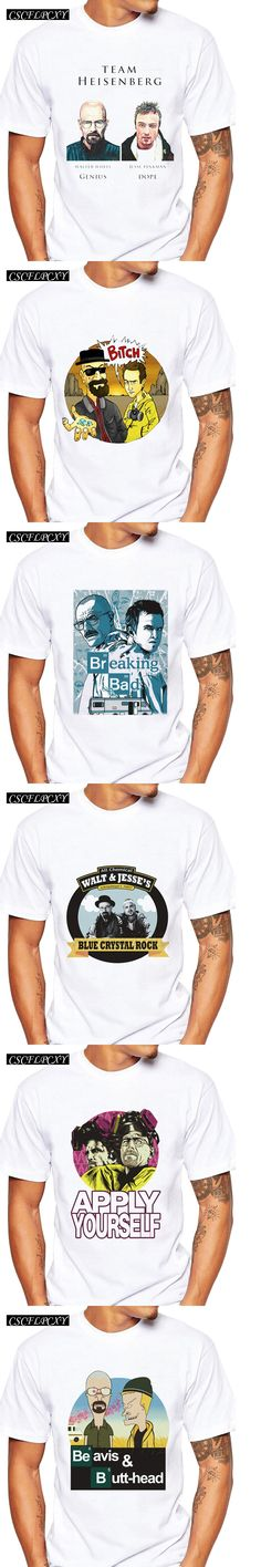 Breaking Bad TV Design New Arrivals Short Sleeve Men T-Shirt Mr. White Jessie Pinkman Printed Male Tops Heisenberg Cool Tees