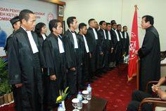 Acara Pengambilan Sumpah Advokat PERADIN tanggal 30 Januari 2012             di Hotel Lombok Indah, Mataram, NTB.