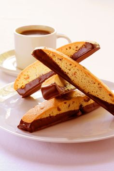 Chocolate Dipped Pumpkin Pie Biscotti (1) From: The Heritage Cook (2) Webpage has a convenient Pin It Button