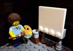 Lego Bob Ross. We don't make mistakes. Just happy accidents.