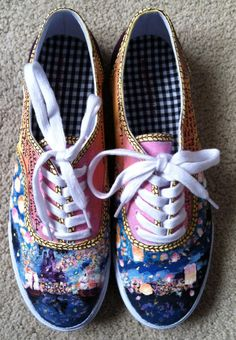 Custom Hand painted Tangled Shoes seriously were do u get those shoes? I want them they are so cute!