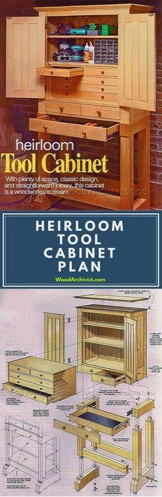 Heirloom Tool Cabinet Plans - Workshop Solutions Plans, Tips and Tricks   WoodArchivist.com