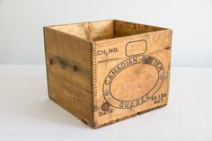 Antique Canadian Butter Box  Quebec  1950's by Canelly on Etsy