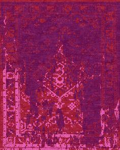 Classic Fade Fushia designer carpet – Kush Handmade Rugs in Portland, OR