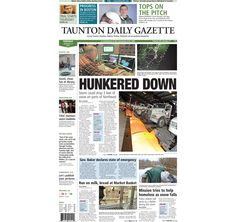 The front page of the Taunton Daily Gazette for Tuesday, Jan. 27, 2015.