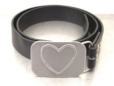 Custom Made Heart Belt Buckle by Brown Dog Welding....cute on a casual day!