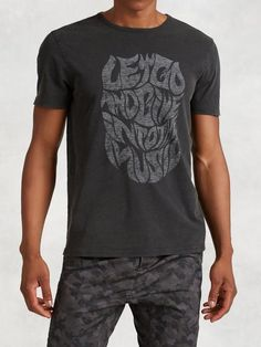 Let Go And Give In To Music Graphic Tee (John Varvatos Star U.S.A. Spring 2016)